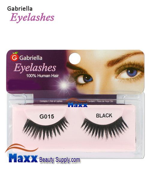 1 Package - Gabriella Eyelashes Strip 100% Human Hair - G015