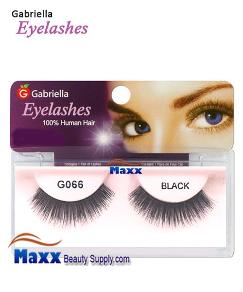 1 Package - Gabriella Eyelashes Strip 100% Human Hair - G066