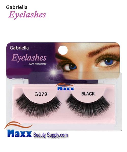 1 Package - Gabriella Eyelashes Strip 100% Human Hair - G079