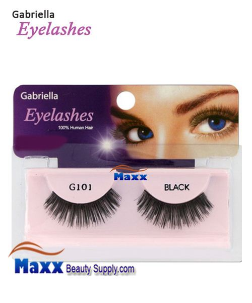 1 Package - Gabriella Eyelashes Strip 100% Human Hair - G101