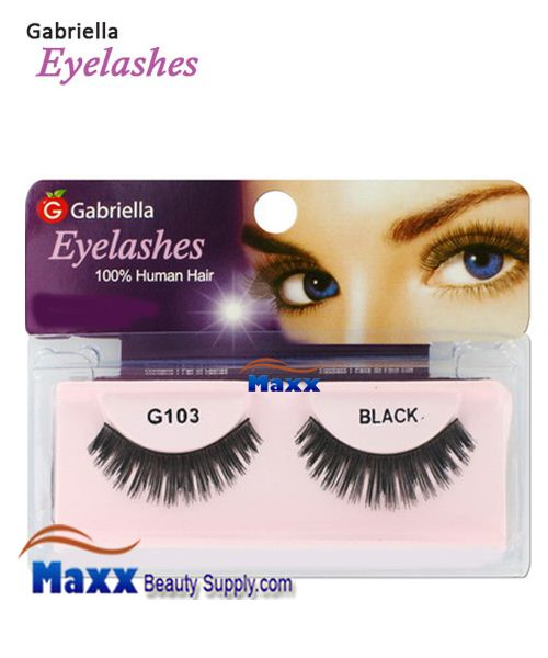 1 Package - Gabriella Eyelashes Strip 100% Human Hair - G103