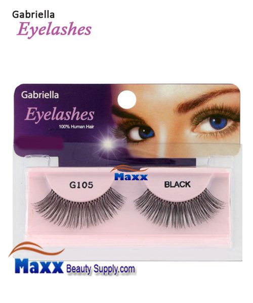 1 Package - Gabriella Eyelashes Strip 100% Human Hair - G105