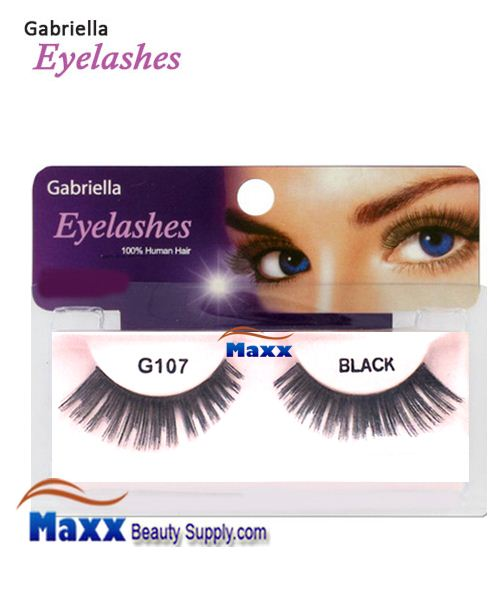 1 Package - Gabriella Eyelashes Strip 100% Human Hair - G107