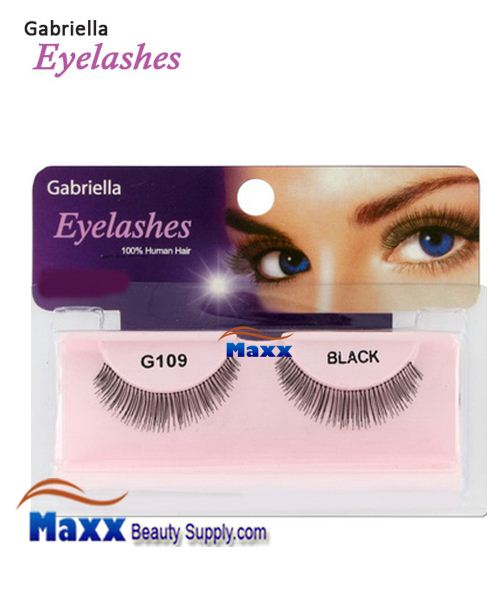 1 Package - Gabriella Eyelashes Strip 100% Human Hair - G109