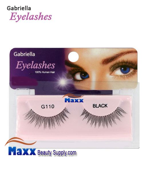 1 Package - Gabriella Eyelashes Strip 100% Human Hair - G110
