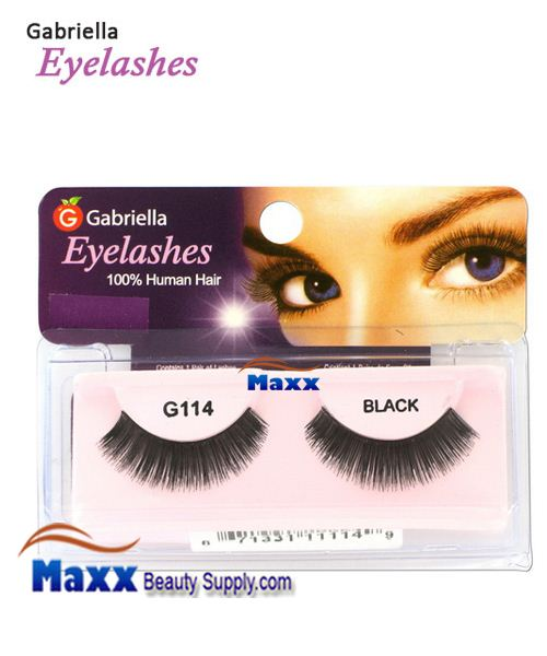 1 Package - Gabriella Eyelashes Strip 100% Human Hair - G114