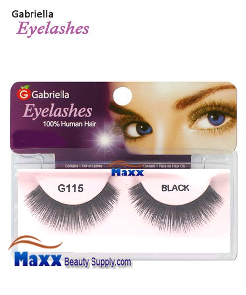 1 Package - Gabriella Eyelashes Strip 100% Human Hair - G115