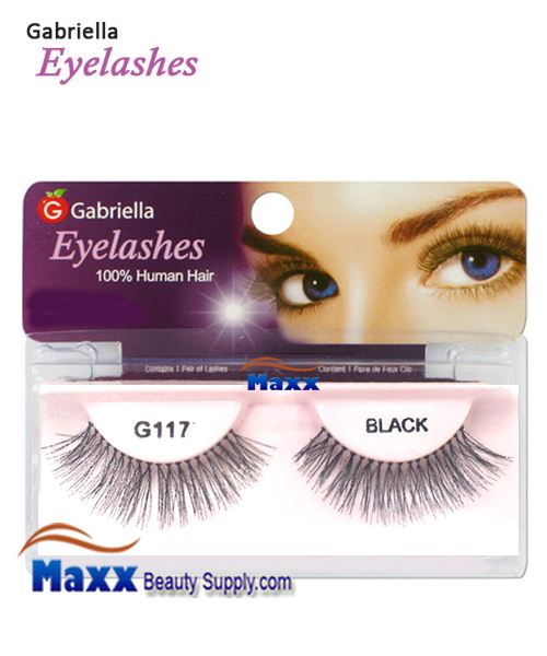 1 Package - Gabriella Eyelashes Strip 100% Human Hair - G117