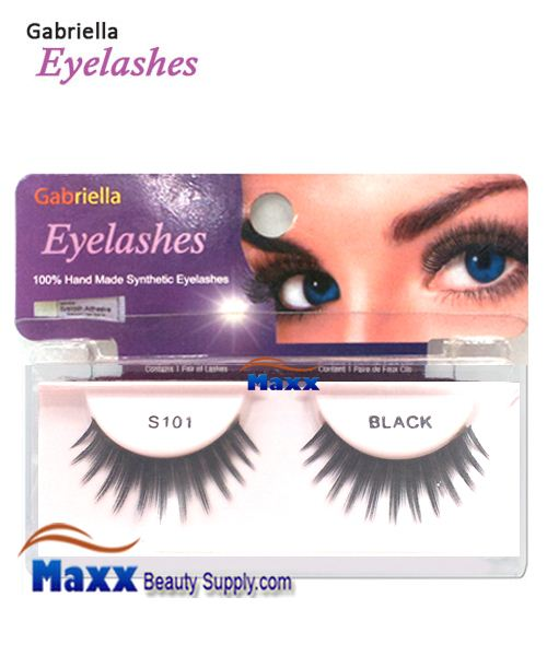 1 Package - Gabriella Eyelashes Strip Synthetic Hair - S101
