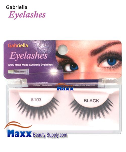 1 Package - Gabriella Eyelashes Strip Synthetic Hair - S103