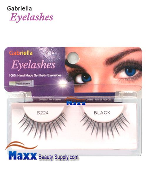 1 Package - Gabriella Eyelashes Strip Synthetic Hair - S224