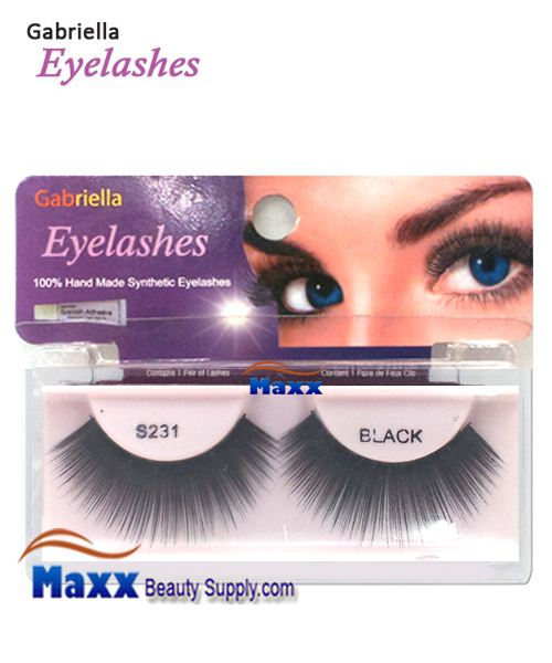 1 Package - Gabriella Eyelashes Strip Synthetic Hair - S231