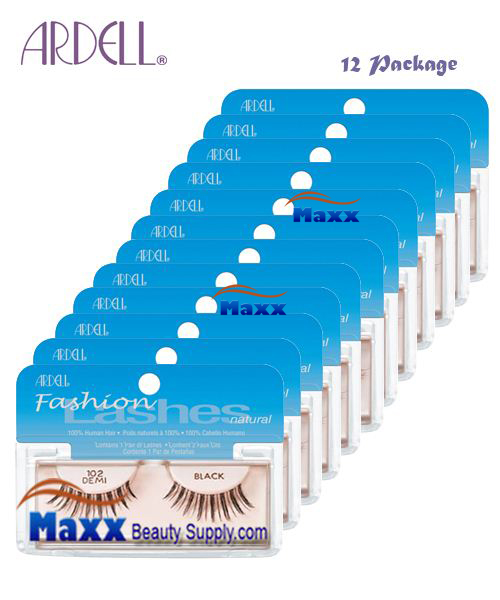 12 Package - Ardell Fashion Lashes Eye Lashes 102 - Black