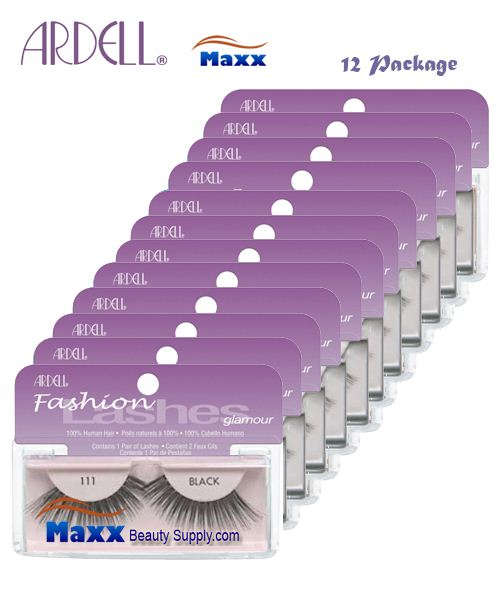 12 Package - Ardell Fashion Lashes Eye Lashes 111 - Black