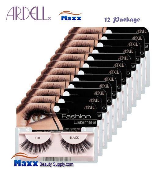12 Package - Ardell Fashion Lashes Eye Lashes 118 - Black