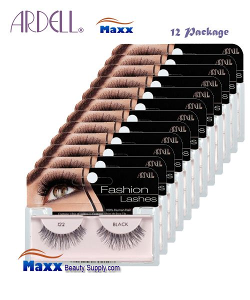 12 Package - Ardell Fashion Lashes Eye Lashes 122 - Black