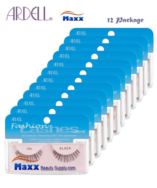 12 Package - Ardell Fashion Lashes Eye Lashes 124 - Black