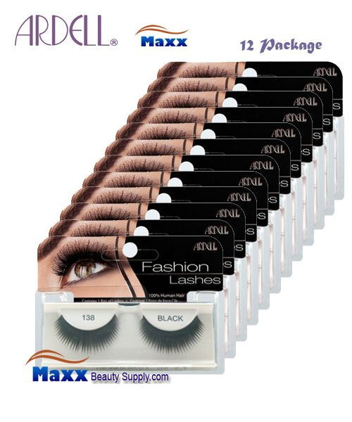 ebfd50fc3f8 12 Package - Ardell Fashion Lashes Eye Lashes 138 - Black - $29.99 ...