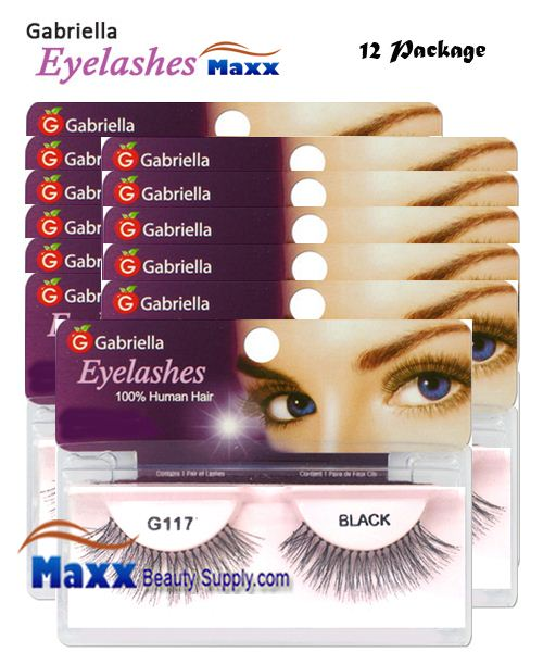 12 Package - Gabriella Eyelashes Strip 100% Human Hair - G117