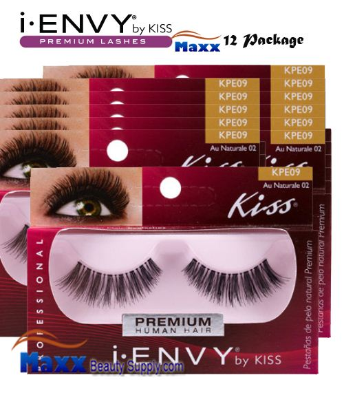 12 Package - Kiss i Envy Au Naturale 02 Eyelashes - KPE09