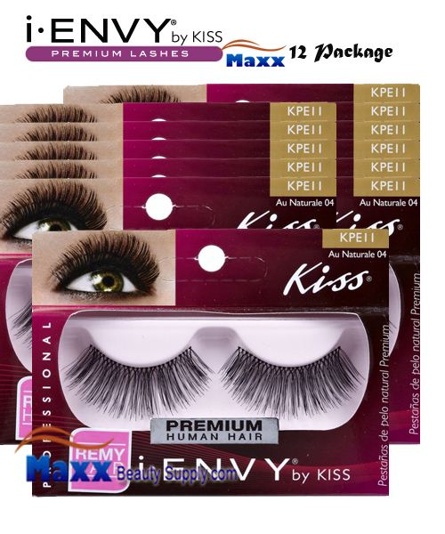 12 Package - Kiss i Envy Au Naturale 04 Eyelashes - KPE11