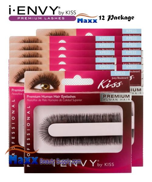 12 Package - Kiss i Envy Custom Cut Eyelashes - KPE32 - Juicy Boulevard
