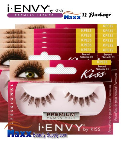12 Package - Kiss i Envy Beyond Naturale 03 Eyelashes - KPE35