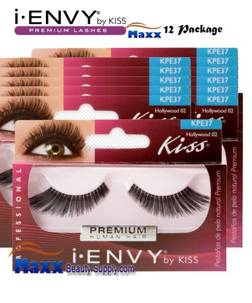 12 Package - Kiss i Envy Hollywood 02 Eyelashes - KPE37