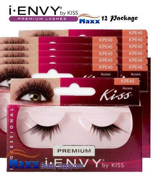 12 Package - Kiss i Envy Accent 01 Eyelashes - KPE40