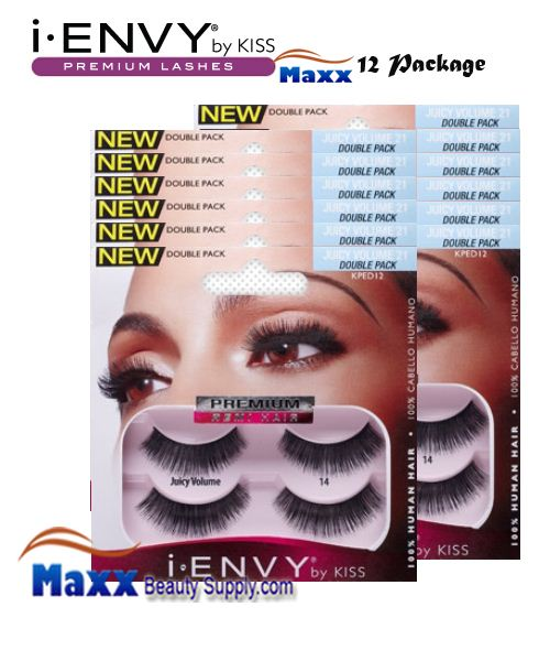 12 Package - Kiss i Envy Double Pack Juicy Volume 02 Eyelashes - KPED12