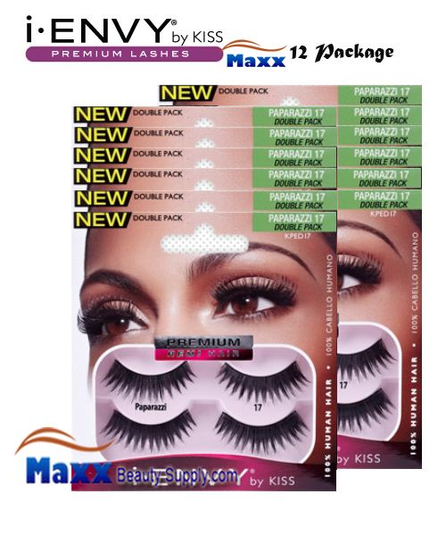 12 Package - Kiss i Envy Double Pack Paparazzi 17 Eyelashes - KPED17