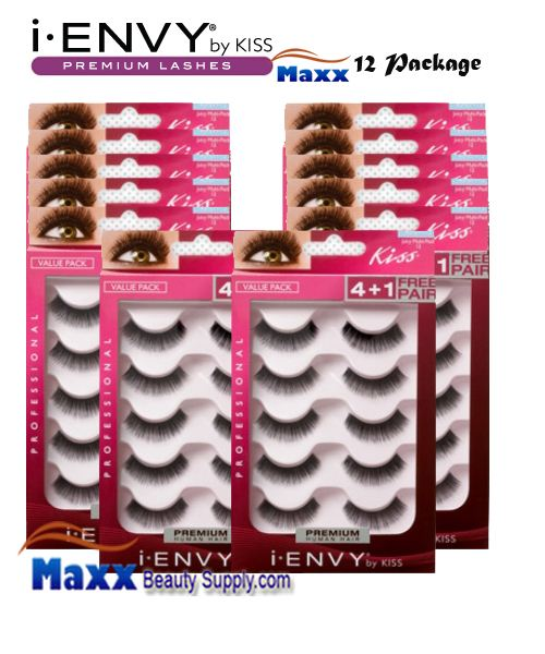 12 Package - Kiss i Envy Multi Pack Juicy Volume 01 Eyelashes - KPEM12