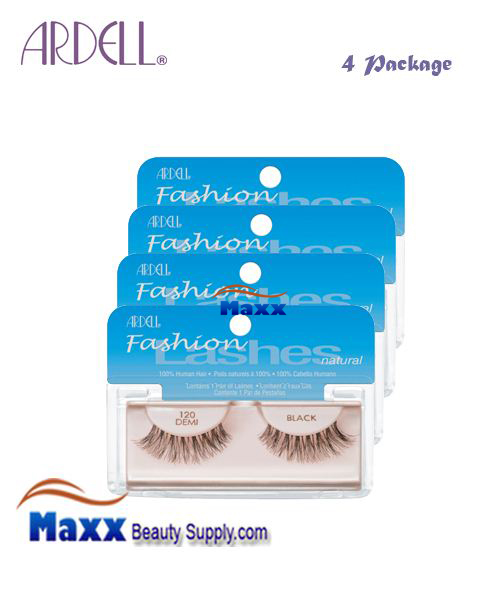 4 Package - Ardell Fashion Lashes Eye Lashes 120 - Black