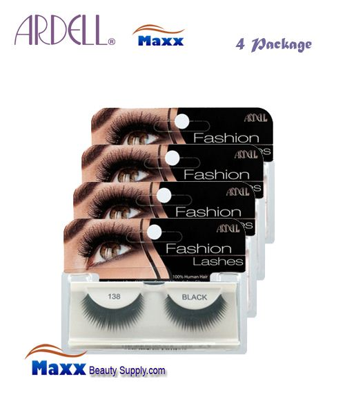 4 Package - Ardell Fashion Lashes Eye Lashes 138 - Black