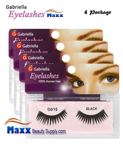 4 Package - Gabriella Eyelashes Strip 100% Human Hair - G015