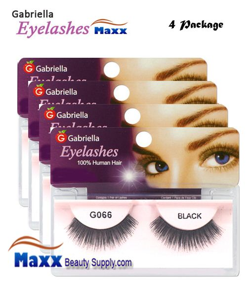 4 Package - Gabriella Eyelashes Strip 100% Human Hair - G066