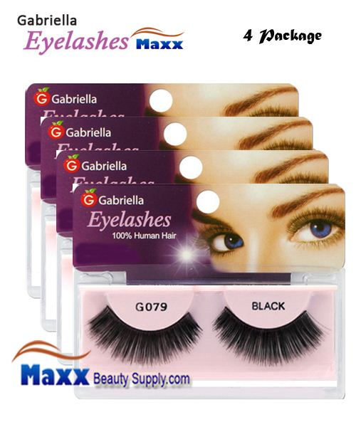4 Package - Gabriella Eyelashes Strip 100% Human Hair - G079