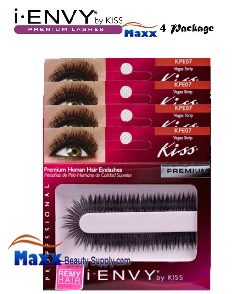 4 Package - Kiss i Envy Custom Cut Eyelashes - KPE07 - Vegas Strip