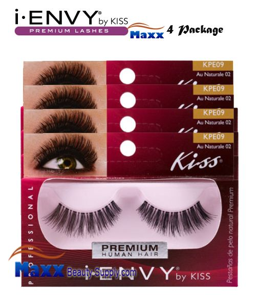 4 Package - Kiss i Envy Au Naturale 02 Eyelashes - KPE09