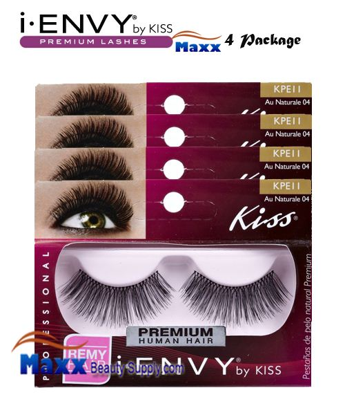 4 Package - Kiss i Envy Au Naturale 04 Eyelashes - KPE11
