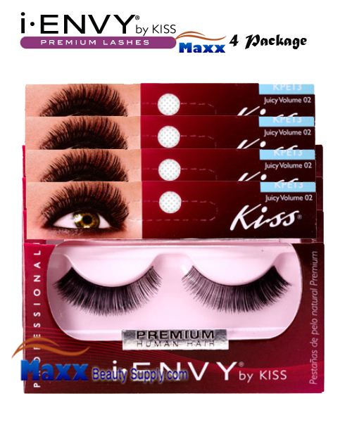 4 Package - Kiss i Envy Juicy Volume 02 Eyelashes - KPE13