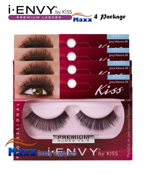 4 Package - Kiss i Envy Juicy Volume 04 Eyelashes - KPE15
