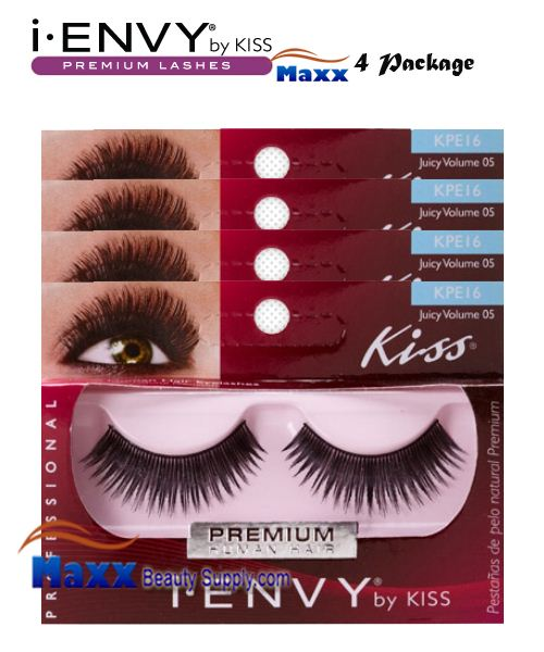 4 Package - Kiss i Envy Juicy Volume 05 Eyelashes - KPE16
