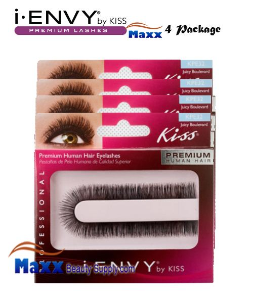 4 Package - Kiss i Envy Custom Cut Eyelashes - KPE32 - Juicy Boulevard