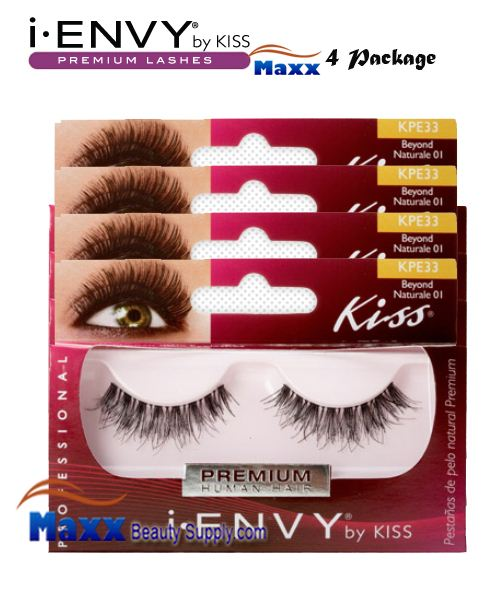 4 Package - Kiss i Envy Beyond Naturale 01 Eyelashes - KPE33