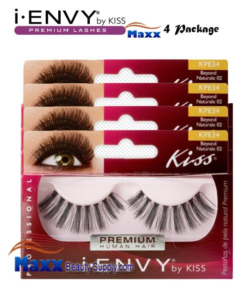 4 Package - Kiss i Envy Beyond Naturale 02 Eyelashes - KPE34