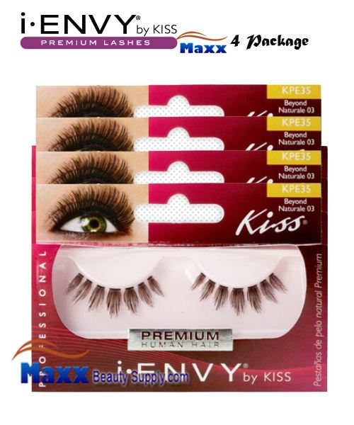 4 Package - Kiss i Envy Beyond Naturale 03 Eyelashes - KPE35