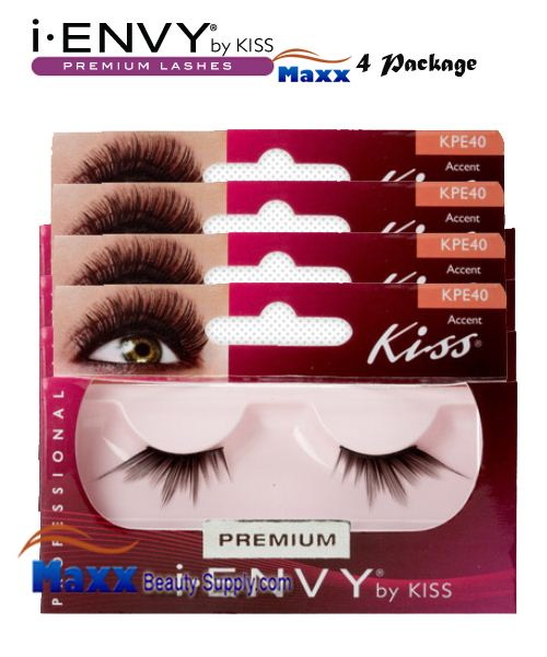 4 Package - Kiss i Envy Accent 01 Eyelashes - KPE40