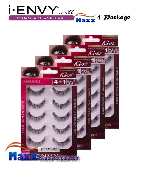 4 Package - Kiss i Envy Multi Pack Au Naturale 01 Eyelashes - KPEM08