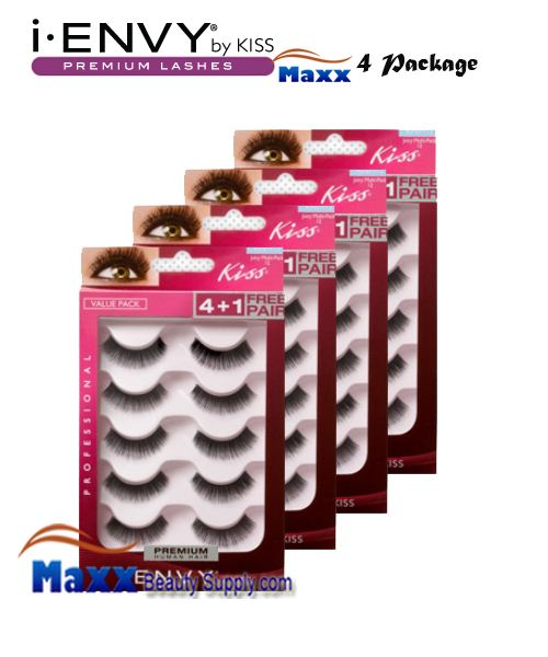 4 Package - Kiss i Envy Multi Pack Juicy Volume 01 Eyelashes - KPEM12